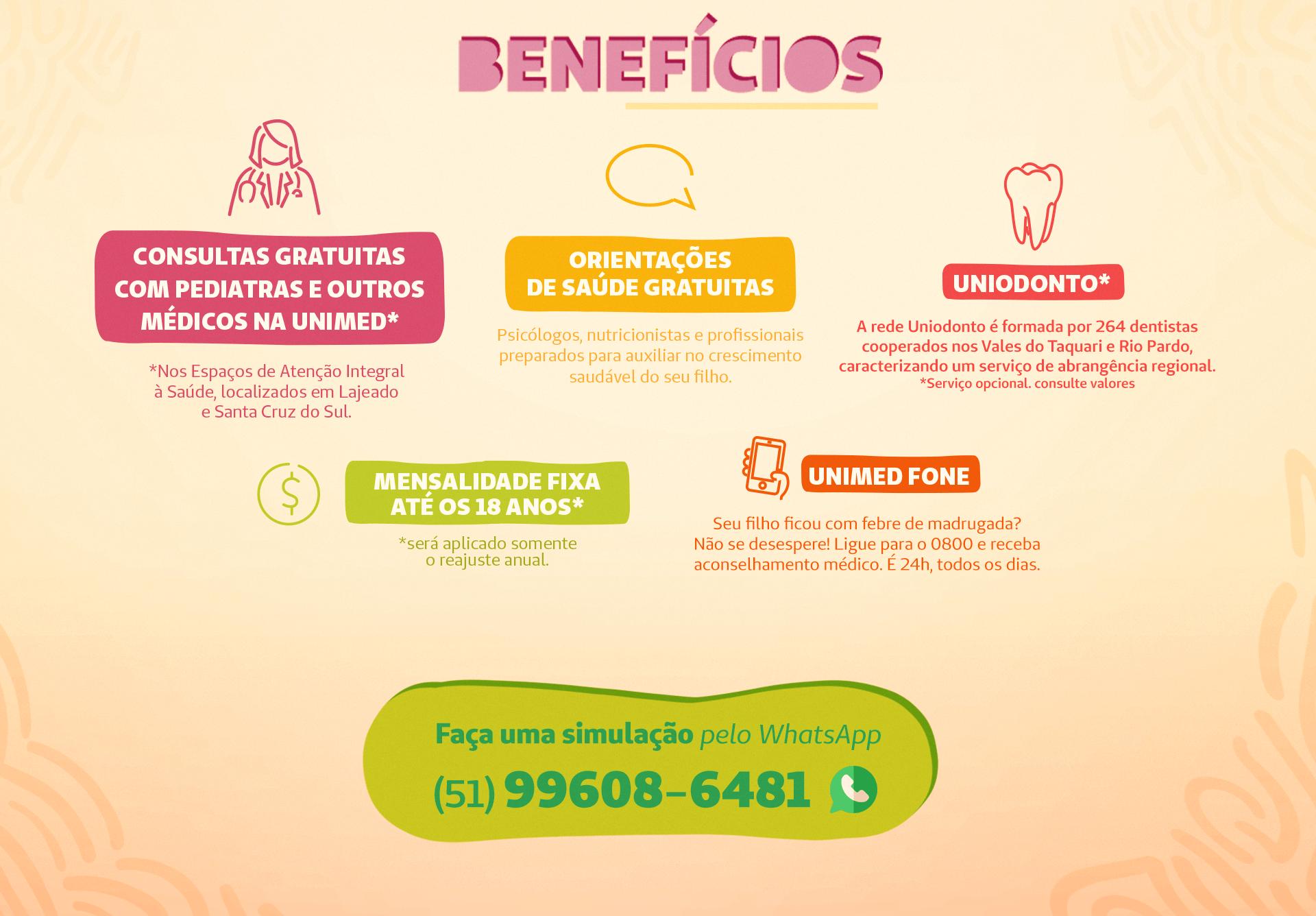 Imagem mostra benefícios Unimed