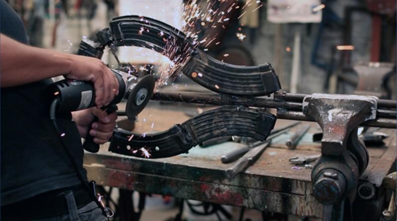 Armas se transformam em instrumentos musicais Blog Unimed VTRP 1