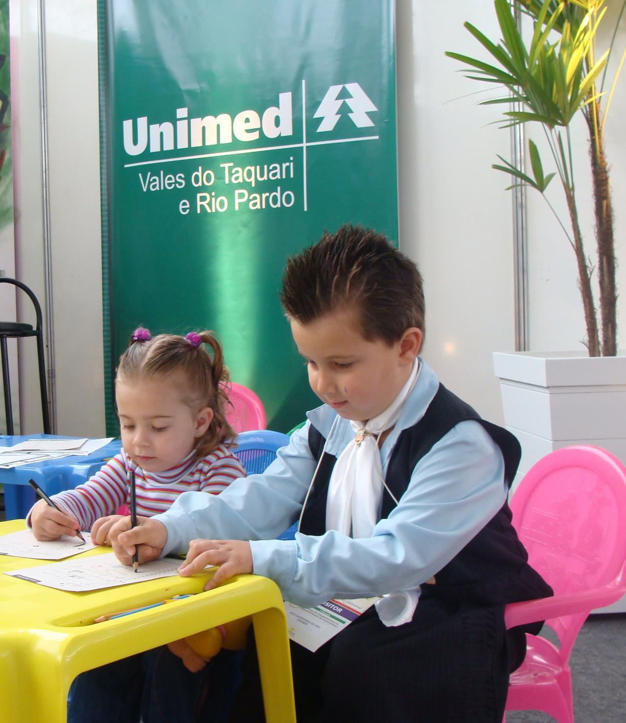 Estúdio Criança é um espaço disponibilizado pela Unimed VTRP em eventos